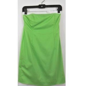 INC Stretch-Cotton Contrast-Trim Strapless Dress